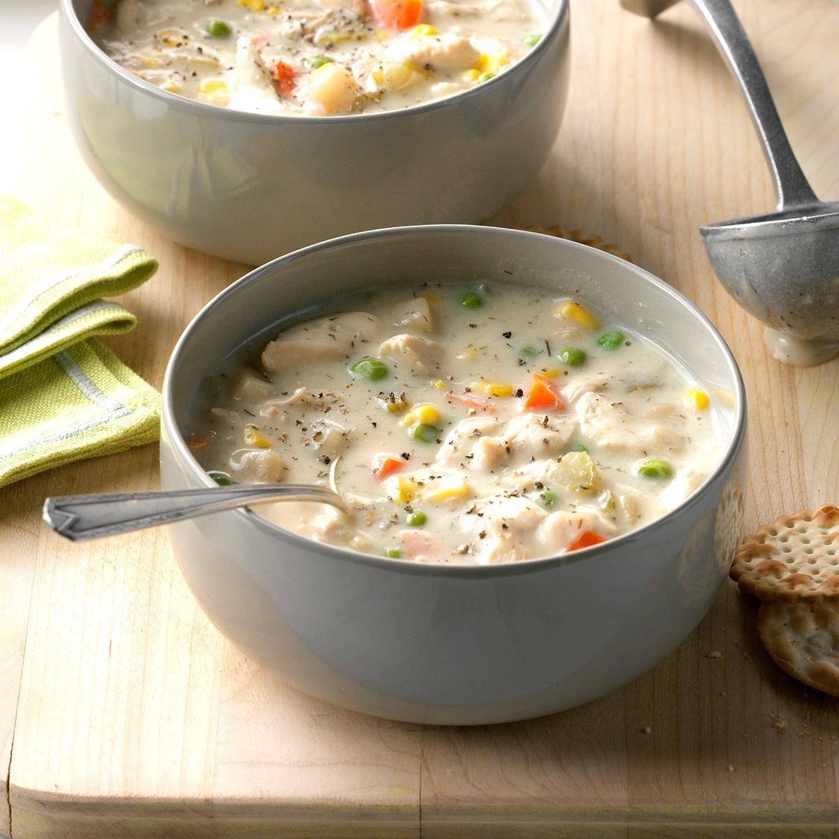 Chunky Creamy Chicken Soup
