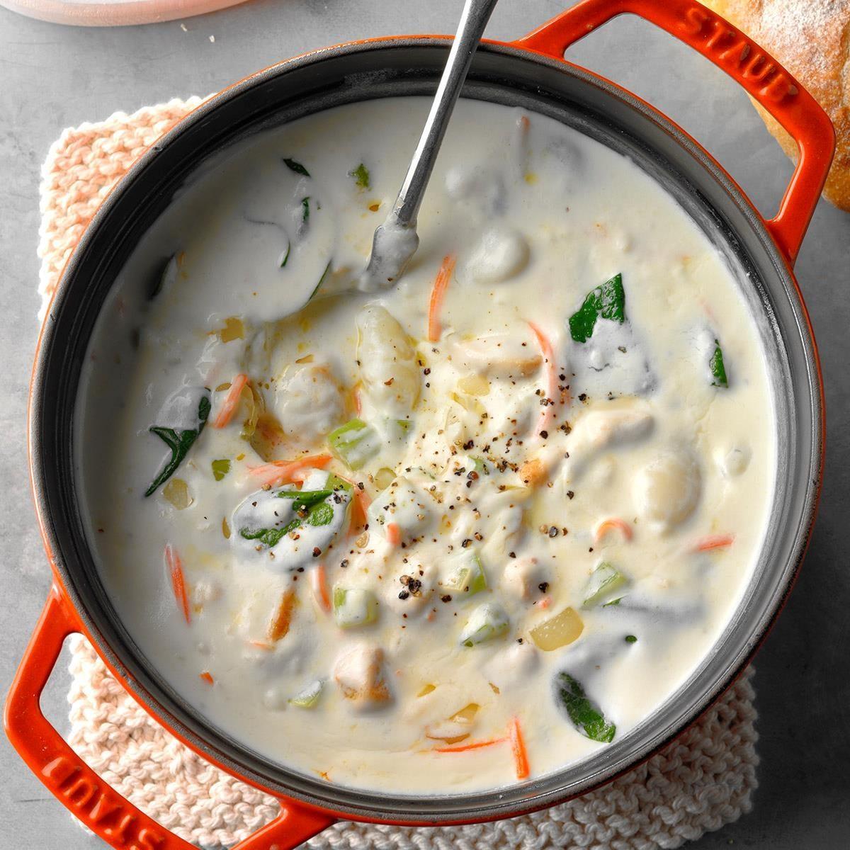 Sunday: Creamy Chicken Gnocchi Soup