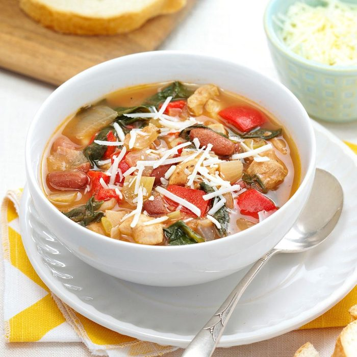 Herbed Chicken and Spinach Soup