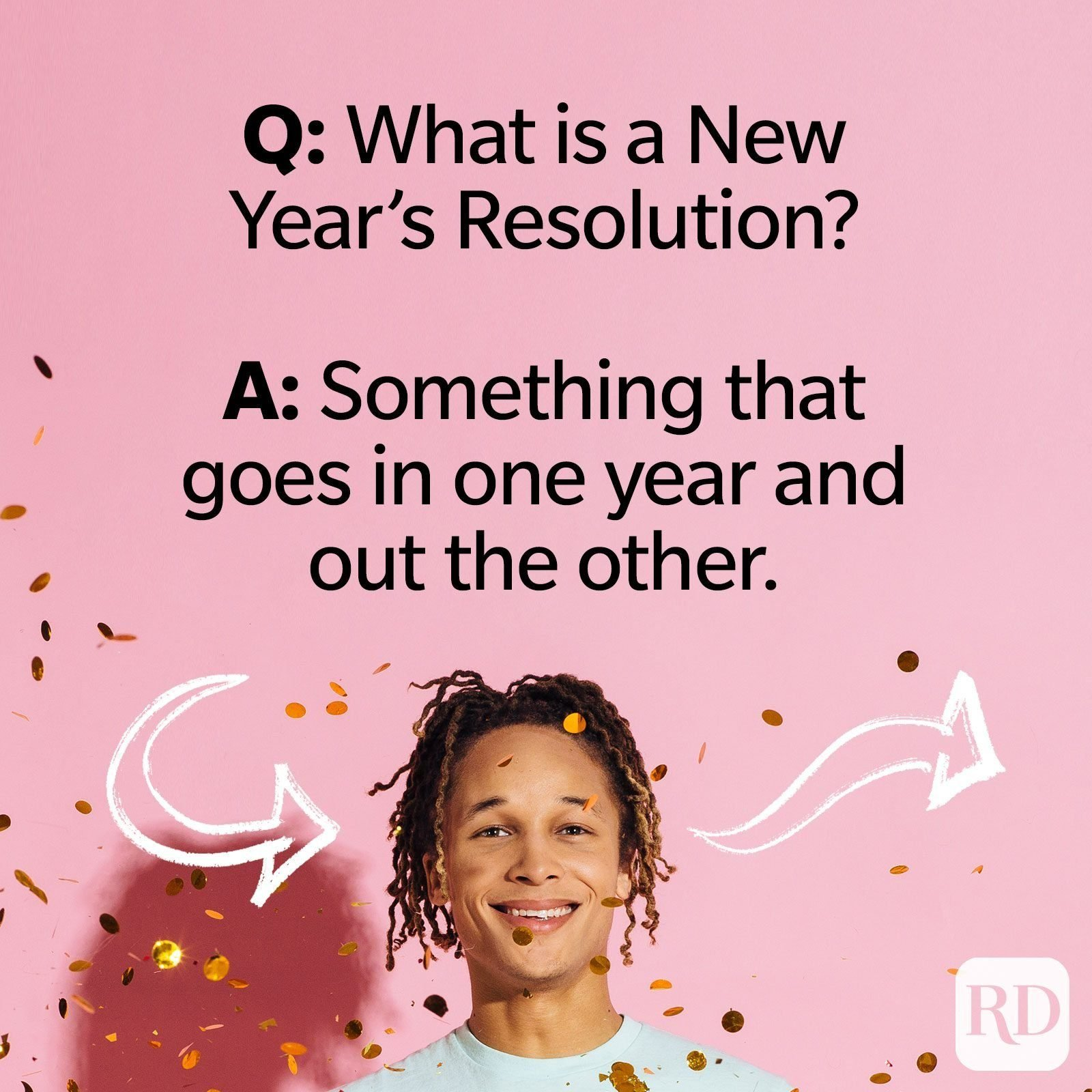 Q: What is a New Year's resolution? A: Something that goes in one year and out the other.