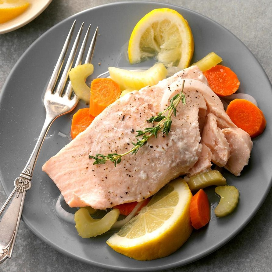 Simple Poached Salmon