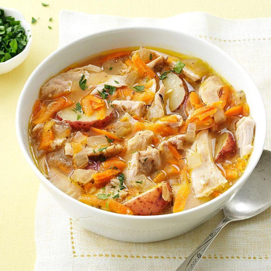 Spring thyme chicken stew recipe
