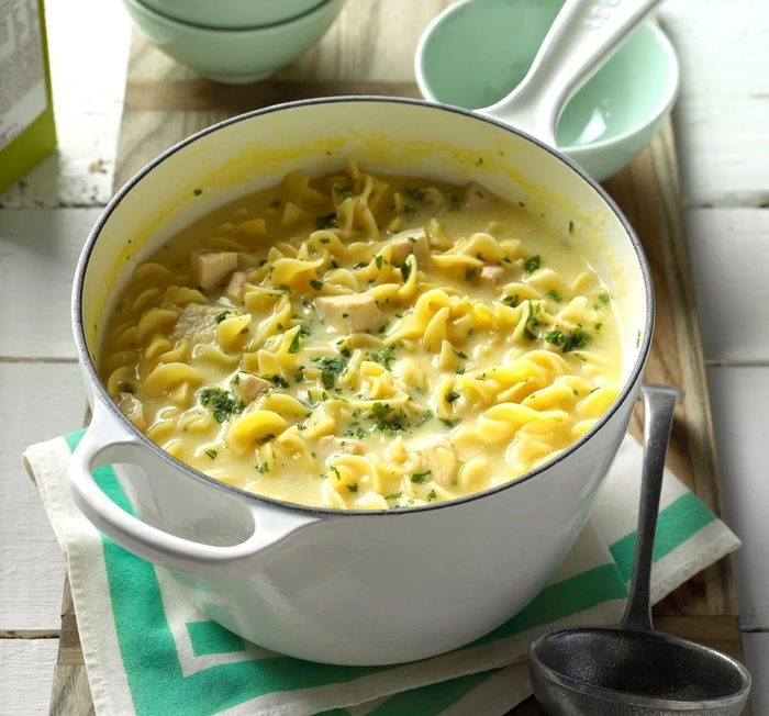 Comforting chicken noodle soup recipe