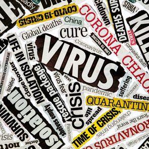 Coronavirus Pandemic News - Newspaper clippings of Coronavirus pandemic