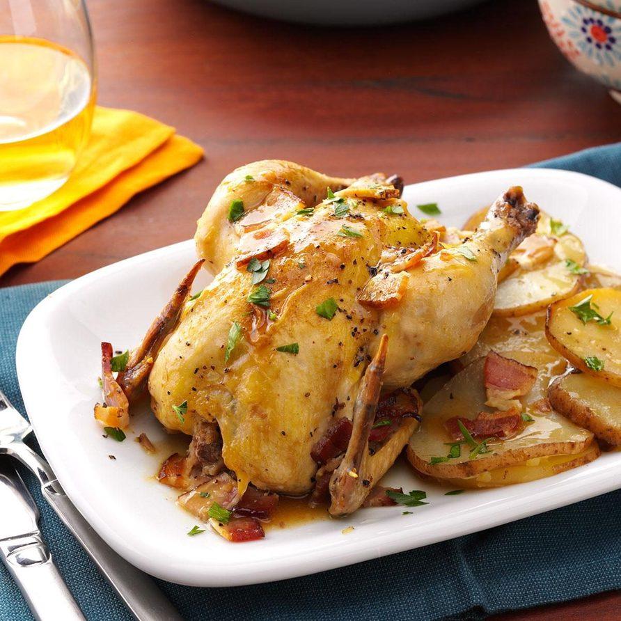 Cornish Hens with Potatoes