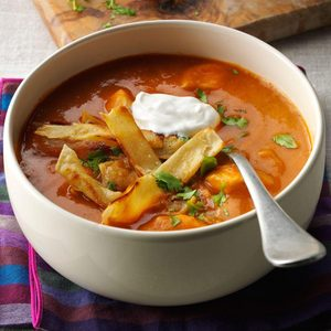 Anaheim Chicken Tortilla Soup