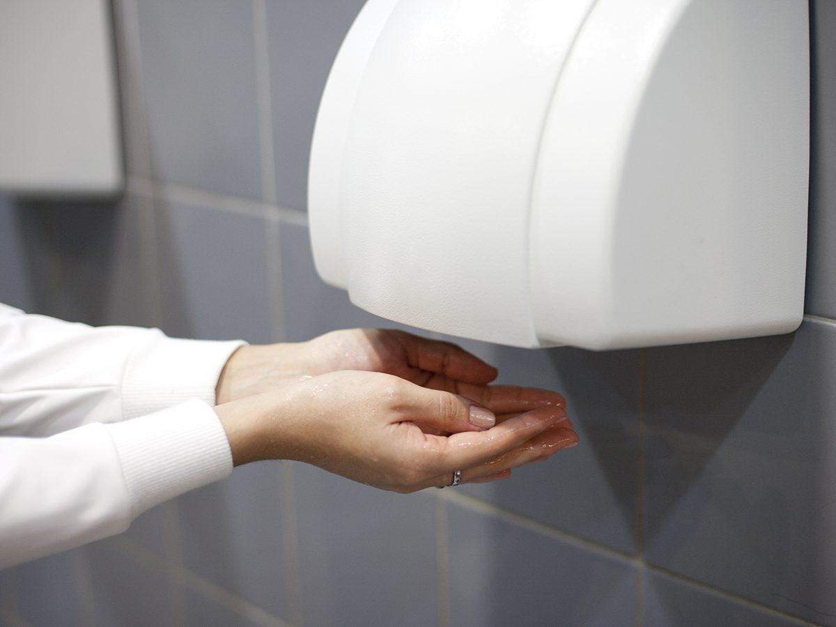 Germ facts - washroom air dryer