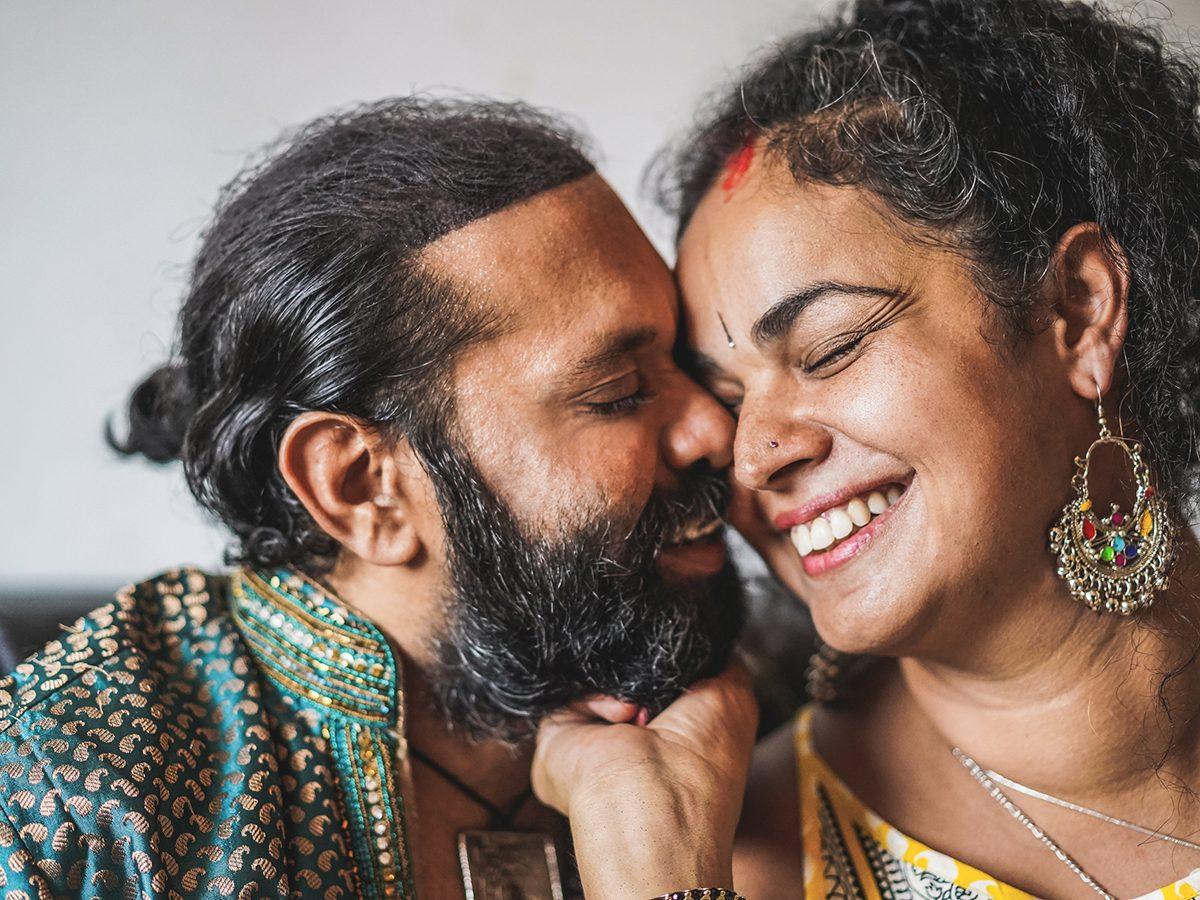 Leo Trust - husband and wife having tender moment
