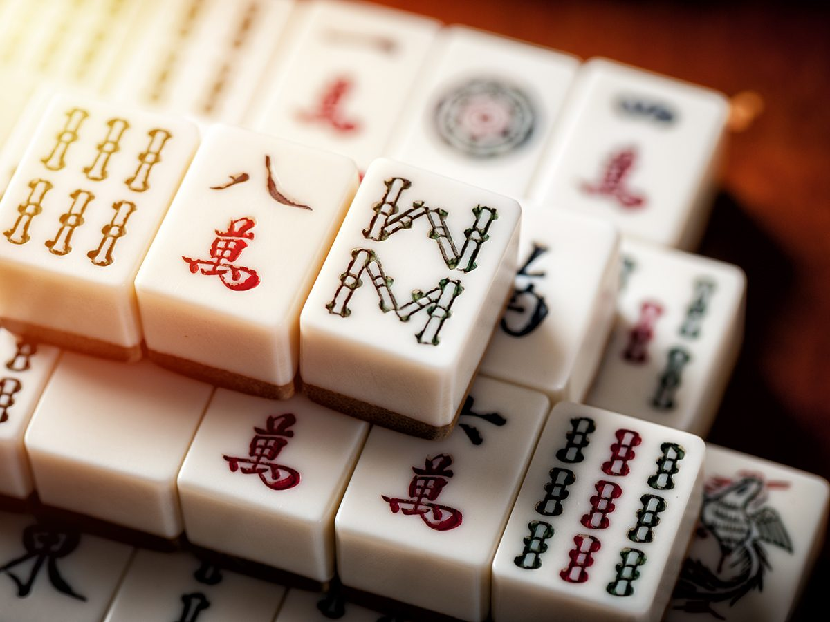 Mahjong Facts Tiles Stacked