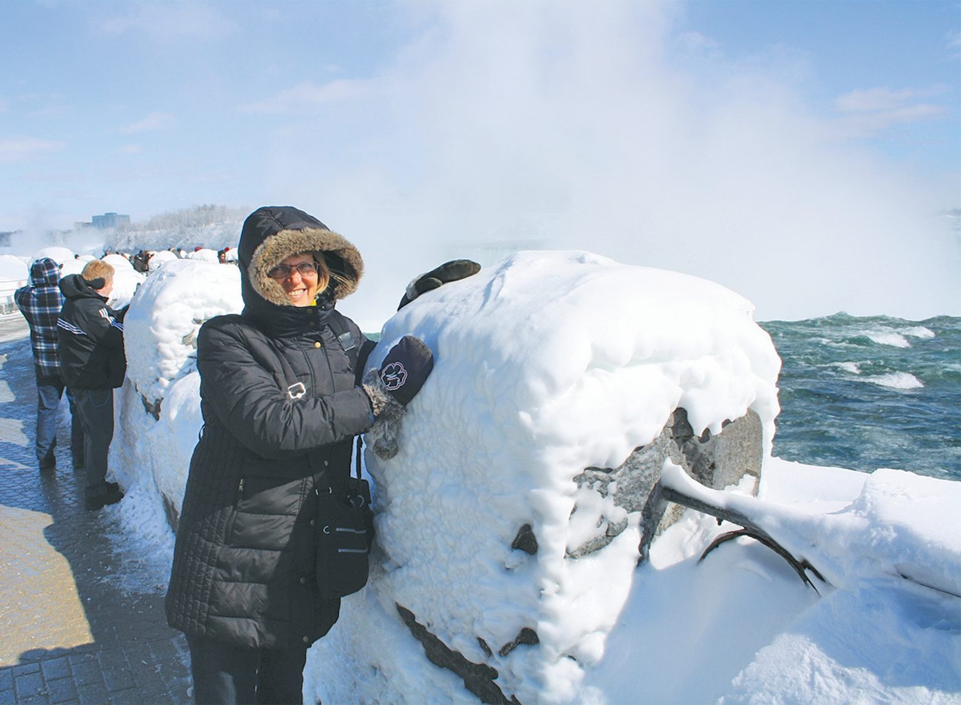 Niagara Falls In Winter - Ice Build Up On Guardrail