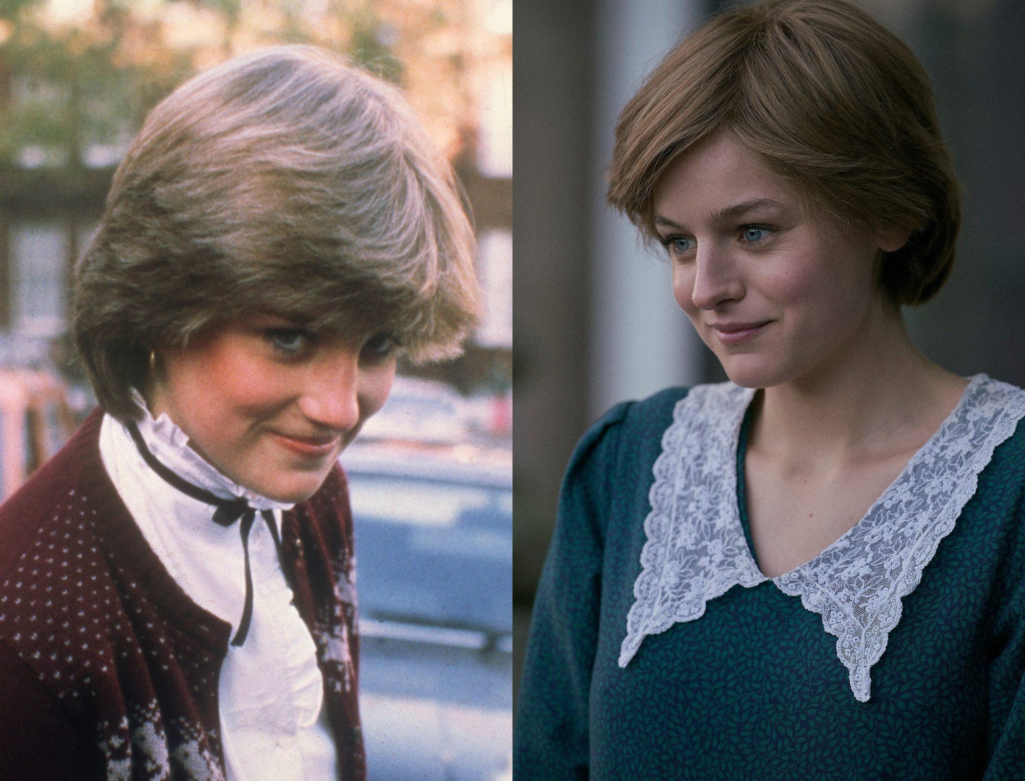 Princess Diana, as played by Emma Corrin