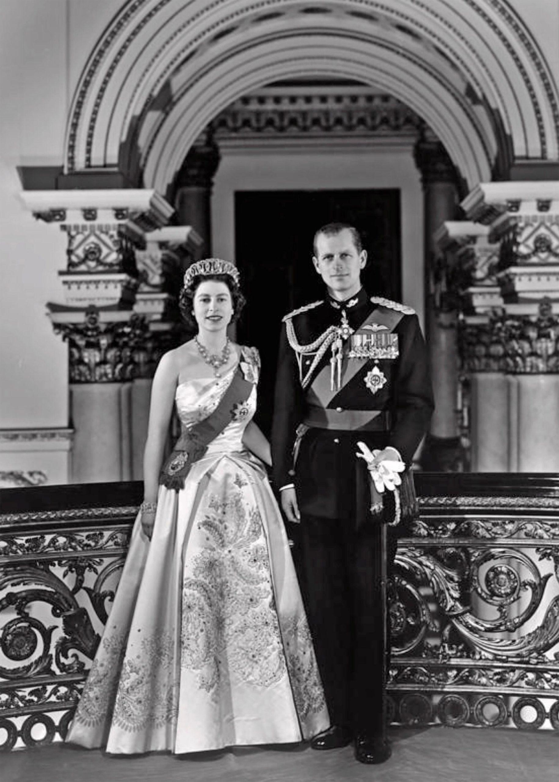 Queen Elizabeth II and Prince Philip in December 1958.