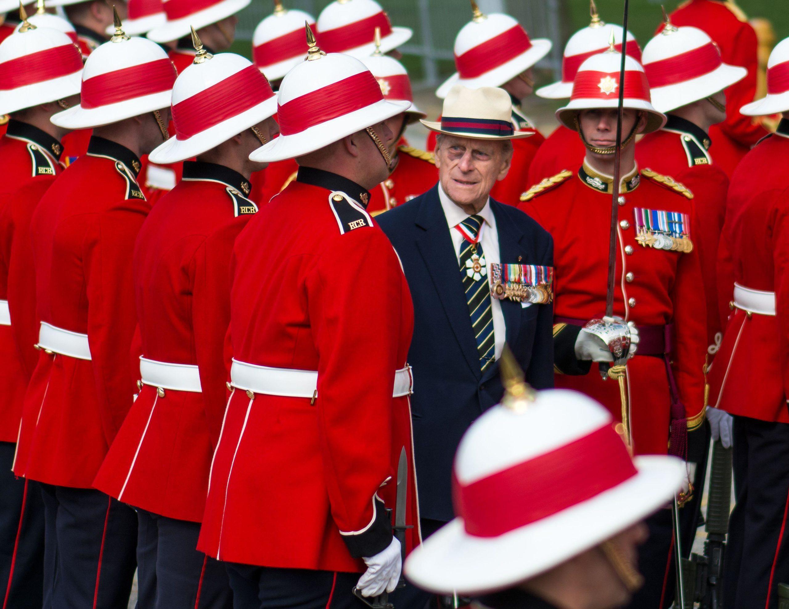 Prince Philip, Duke Of Edinburgh With The Canadian Royal Regiment, Toronto, Canada April 2013