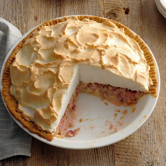 Contest-Winning Rhubarb Meringue Pie