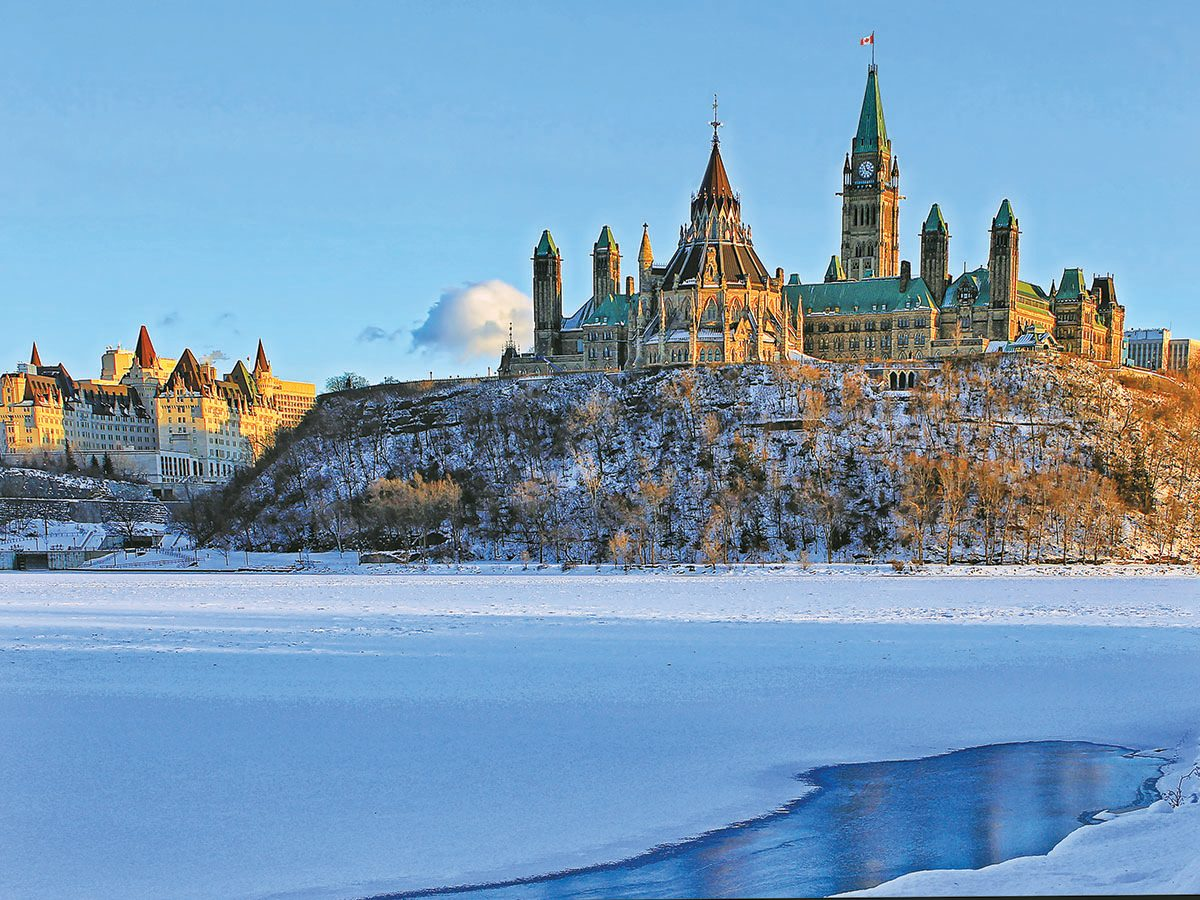 Parliament Hill (foreground) And The Fairmont Château Laurier