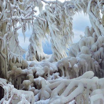 Scarborough Bluffs in Winter