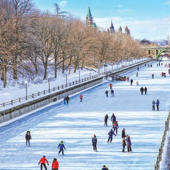 Winter in Ottawa - Skating on the Rideau Canal