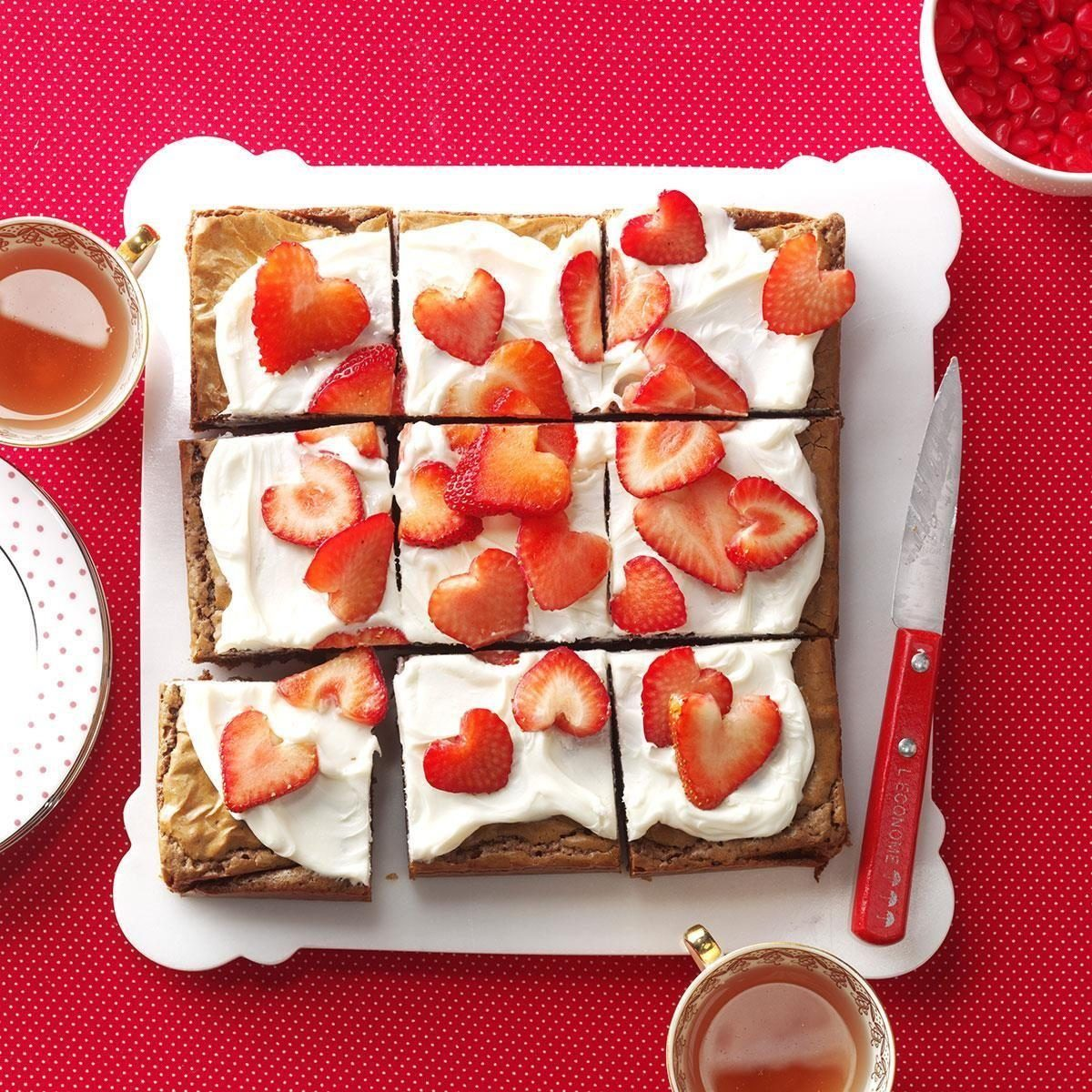Strawberry Heart Brownies