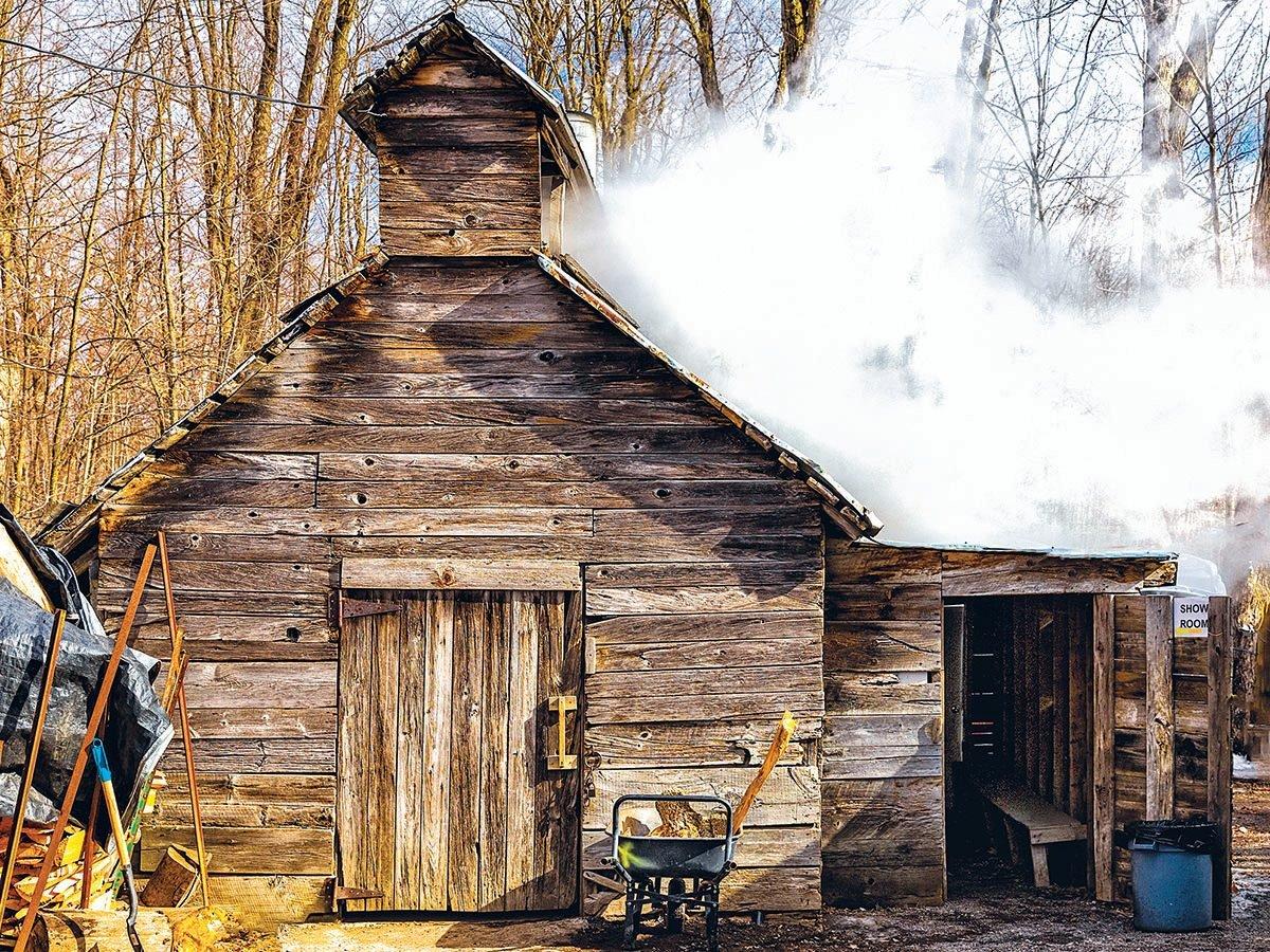 Winter in Ottawa - Syrup cabin in winter