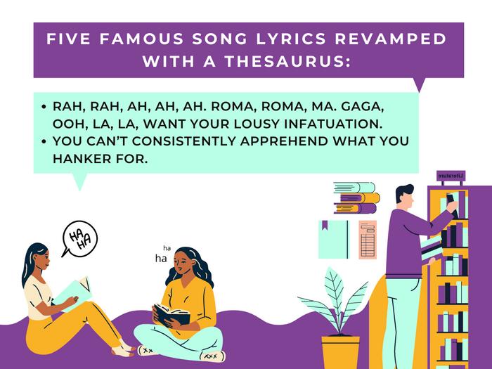 Thesaurus Jokes- Five Famous Song Lyrics