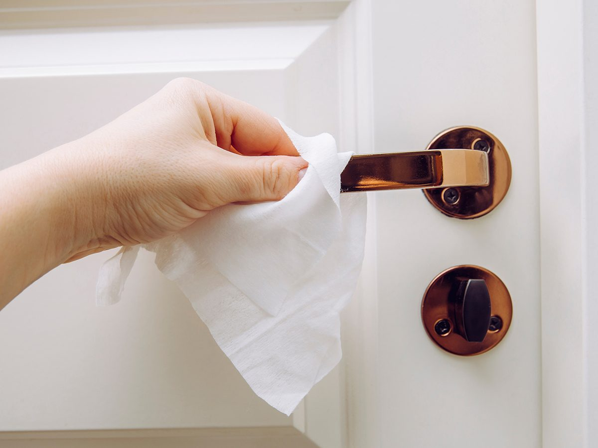 Cleaning door hardware - antimicrobial home hardware