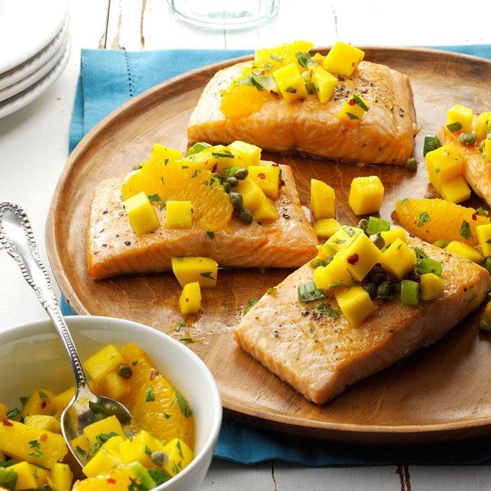 Salmon with Mango-Citrus Salsa