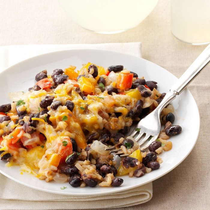Black Beans with Bell Peppers & Rice recipe