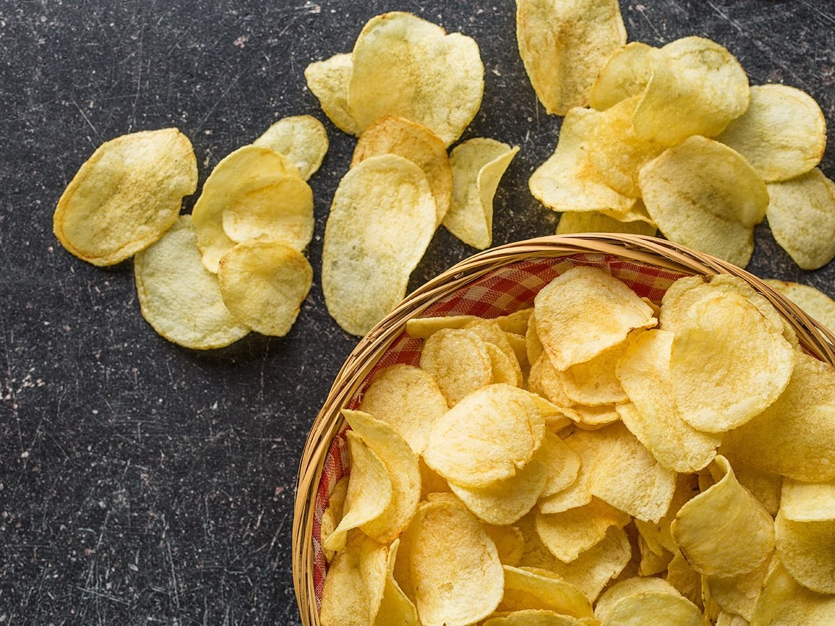 Too much salt - potato chips
