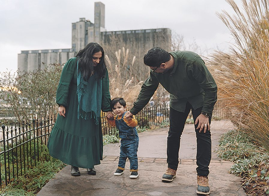 Malik and her husband, Syed, with their two-year-old son, Yusef