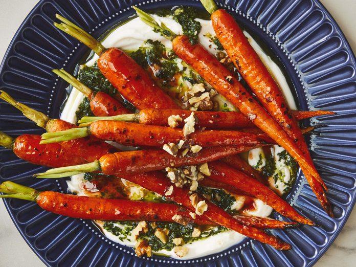 Honey-Roasted Whole Carrots recipe