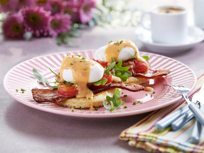BLT Eggs Benedict Recipe