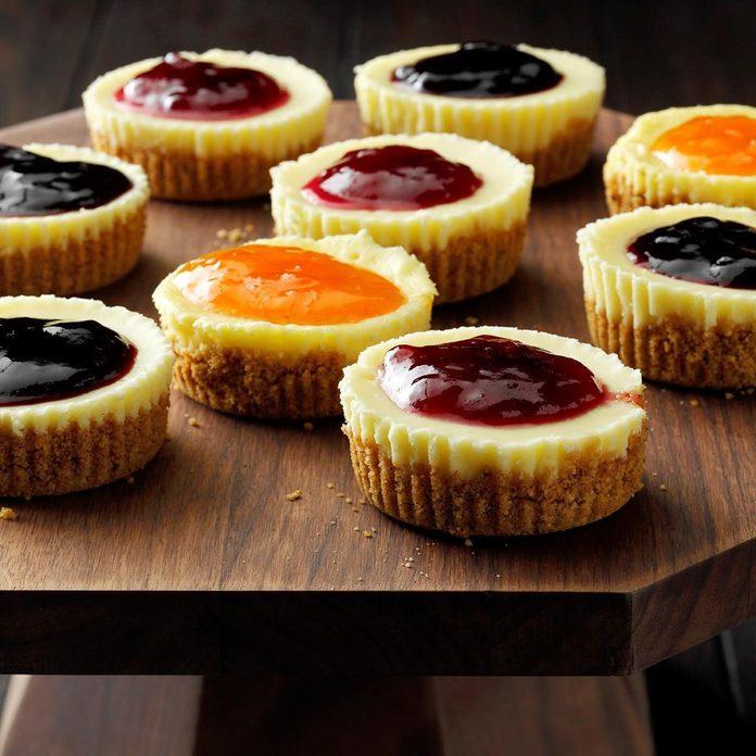 Jam-Topped Mini Cheesecakes recipe