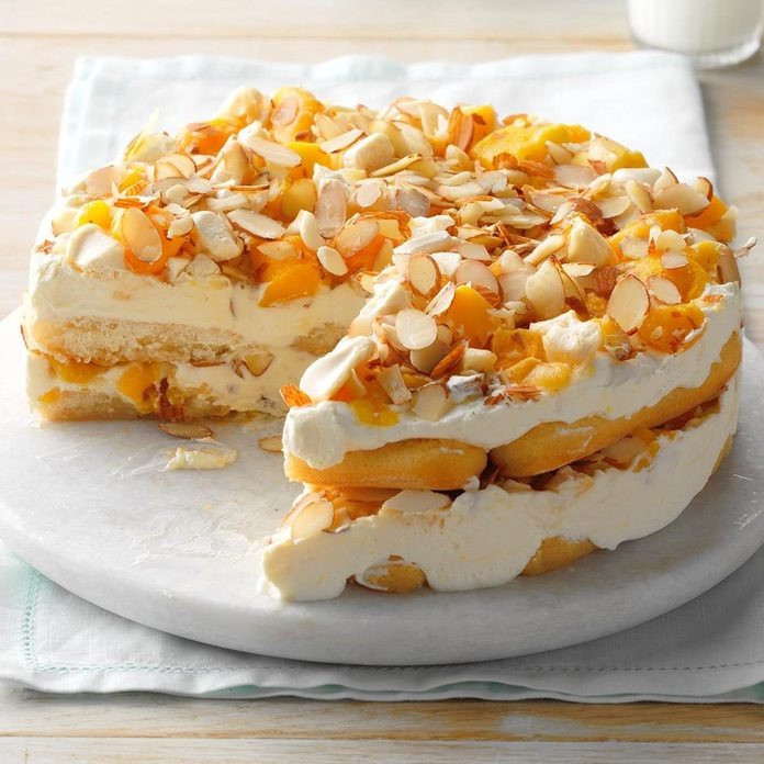 Mango Almond Icebox Cake recipe