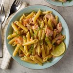 Pressure-Cooker Smoked Salmon Pasta