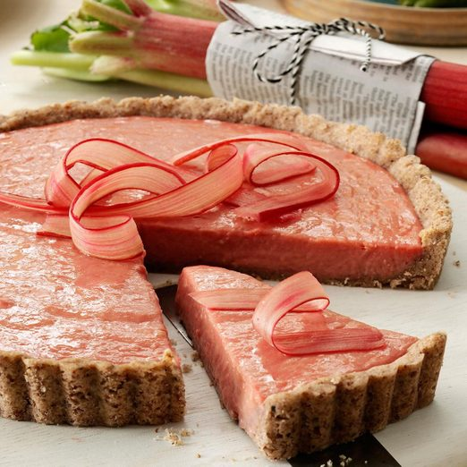 Rhubarb Tart With Shortbread Crust recipe
