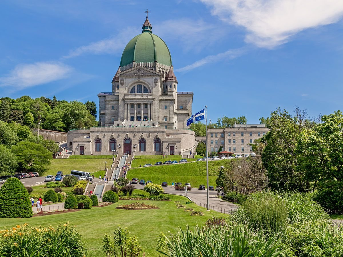 Saint Joseph's Oratory of Mount Royal located in Montreal is Canada's largest church.
