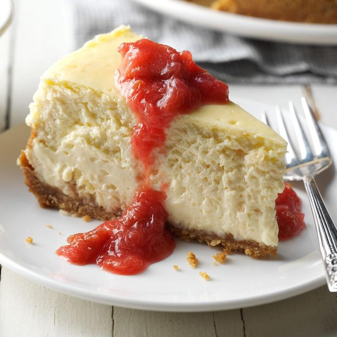 Coconut Cheesecake & Rhubarb Compote recipe