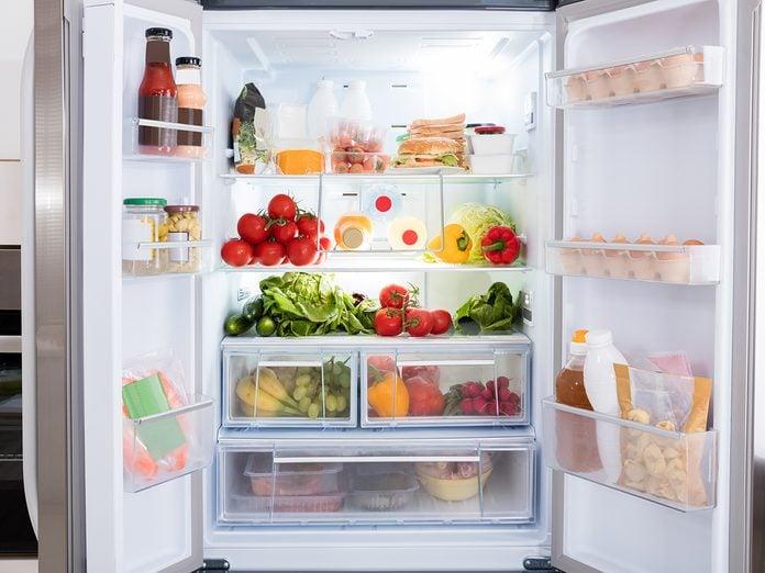 How To Organize Your Fridge - Open Refrigerator Doors
