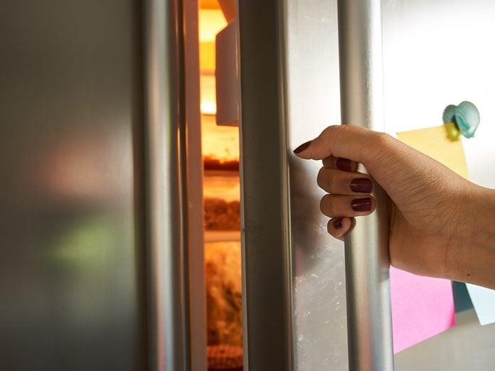 How To Organize Your Fridge - Opening Refrigerator Door