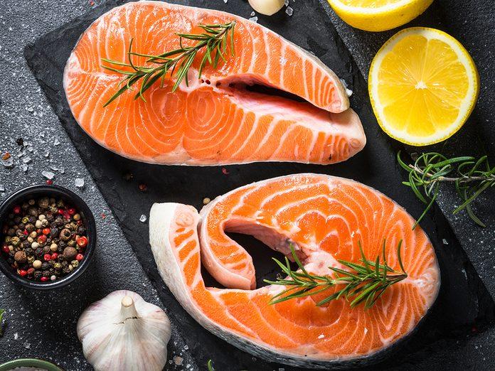 How To Organize Your Fridge - Salmon Steaks