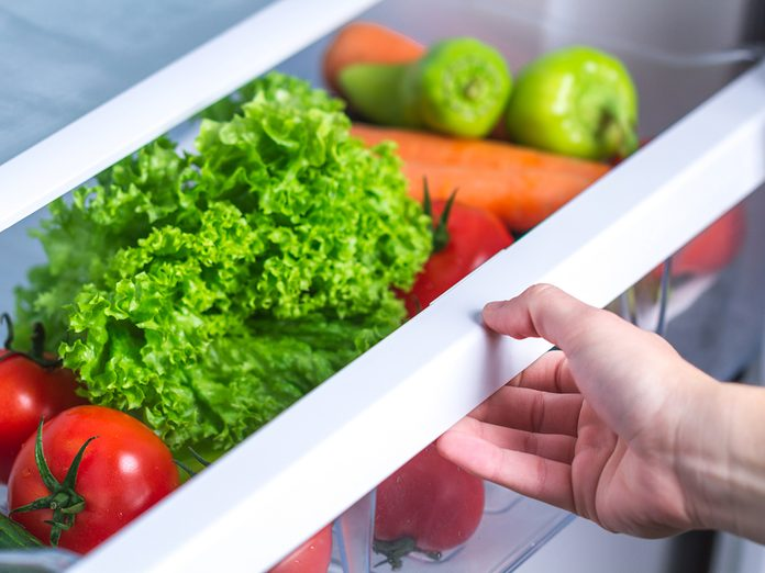 How To Organize Your Fridge - Vegetables In Crisper