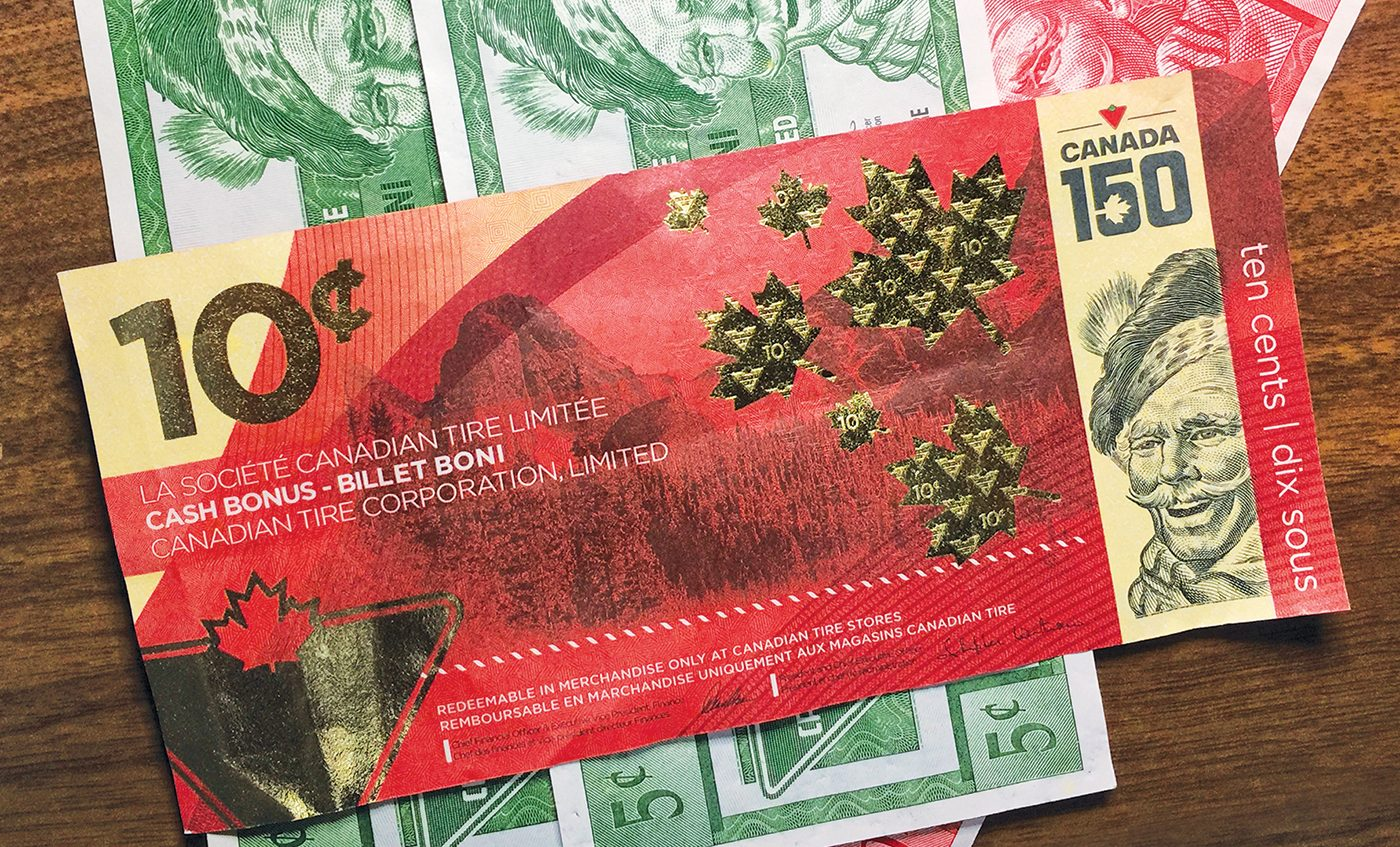 My Canadian Tire Money Collection