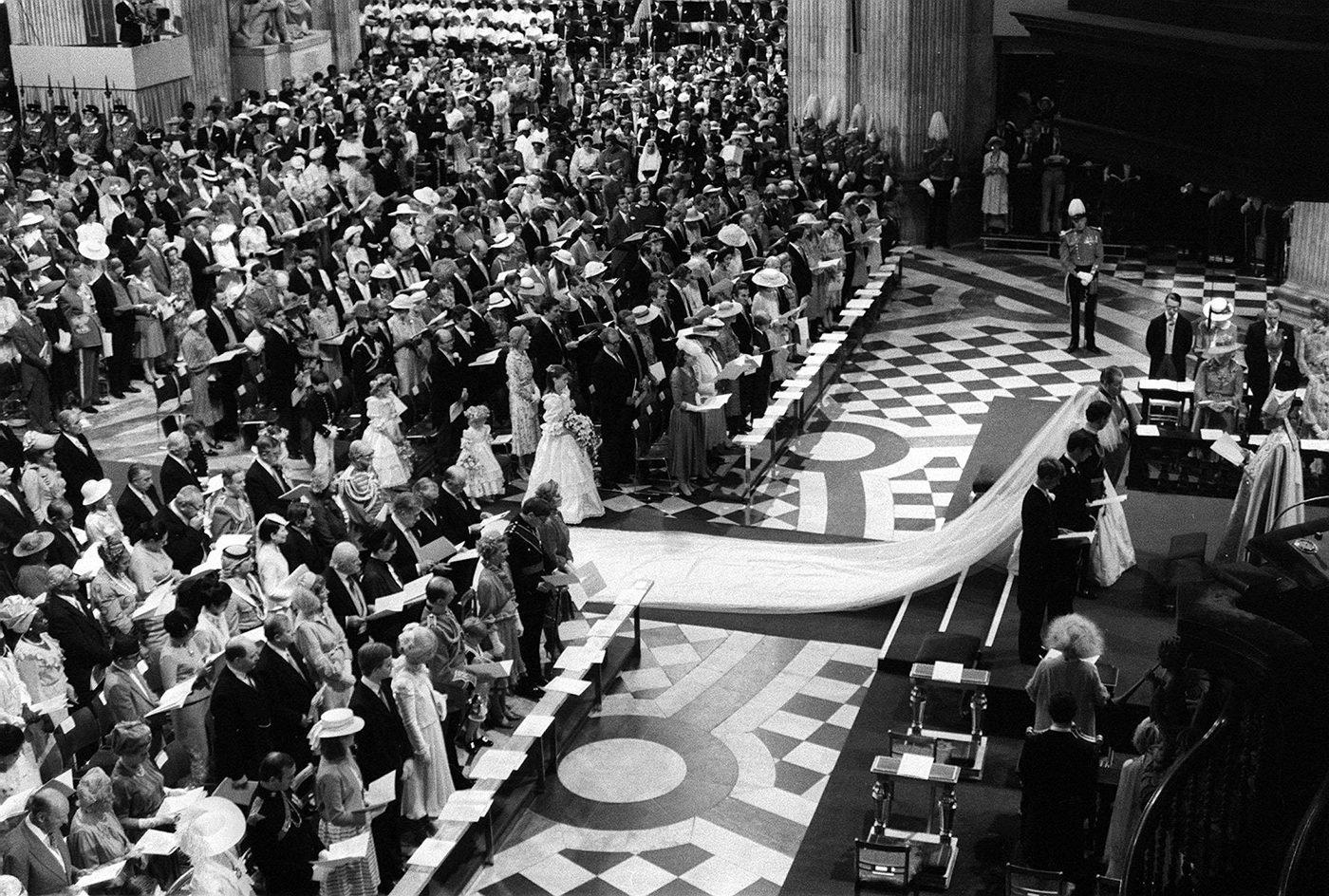 Prince Charles and Princess Diana wedding guests