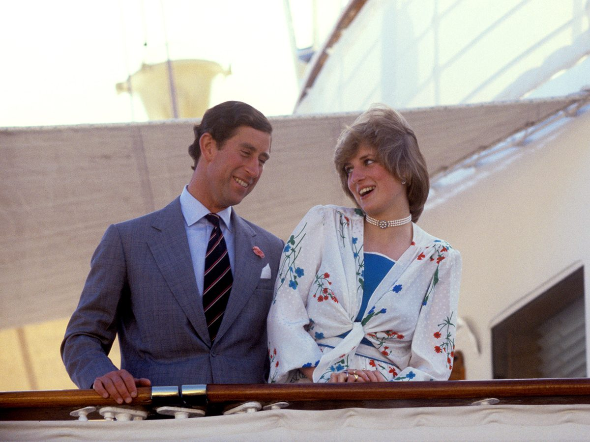 Princes Charles and Princess Diana wedding - Charles and Diana on honeymoon on the royal yacht Brittania