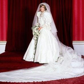 Prince Charles and Princess Diana wedding - Diana in her wedding dress