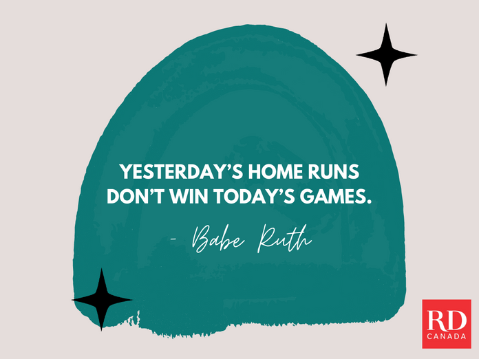 Short Inspirational Quotes - Babe Ruth