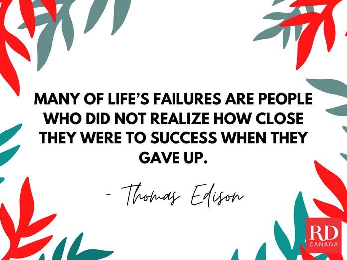 Short Inspirational Quotes - Thomas Edison
