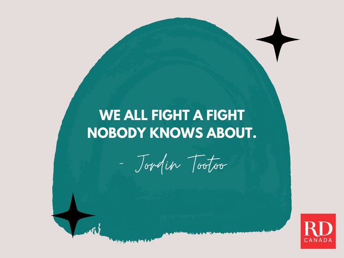 Short Inspirational Quotes - Jordin Tootoo