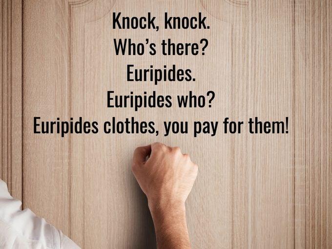 Best Knock Knock Jokes - Euripides