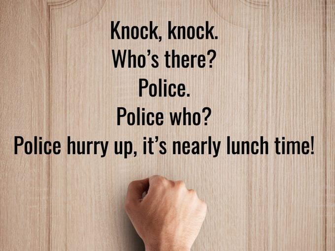 Best Knock Knock Jokes - Police